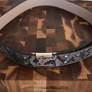Ann Taylor Belt; Black/Grey Snake skin look